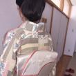 スタッフさんはモデル撮影会の振袖練習、生徒さんは自装の留袖と訪問着でした。