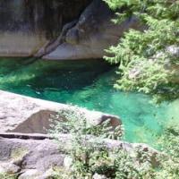 エメラルドグリーンの清流 阿寺渓谷