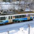 雪の中走る電車。思い出振り返り。