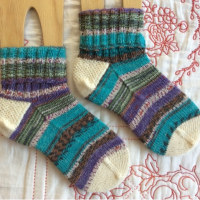 手編み靴下 作品NO.233