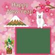 フェミニンな犬の写真フレームで年賀状🐩