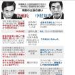 「過去にないウソつき政権」自民内に危機感 加計問題。柳瀬当時首相秘書官と中村愛媛県知事の主張の比較表