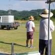 暑さ日本記録更新の日でもRC飛行場。