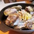 蒸し牡蠣に柚子こしょう = 美味い!