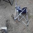 キャンプ用の椅子が壊れた・・・