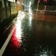 昨日の帰りは激しい雨