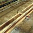 乾燥ハウスのレール修復工事
