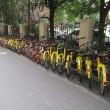 上海で見たとてつもない台数のシェアサイクル