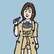 筧美和子(似顔絵)