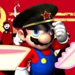 アベ独裁政党のカラーは「赤旗?」