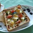 ウズラ卵・トマト・ズッキーニ・キャベツのオイマヨソーストースト