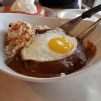 ハワイ旅行記(32) Chinamon's (カイルア)  ~ EGGS BENEDICTS half&GUAVA CHIFFON PANCAKE&Chinamon's Loco Mocos ~