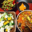 豆腐とオクラとかぼちゃのサラダ
