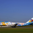 大阪国際空港 撮影日2004年10月10日-12 ANA B747-400D JA8964 青ポケモン