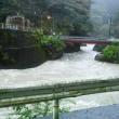 河川は増水気味になっています。