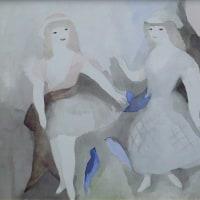 ローランサン 「二人の少女と青い鳥」