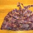 ネックウオーマー兼帽子を編む