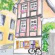 パソコンで描く水彩画 ドイツの建物
