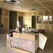 倉敷市玉島柏島で某工場さんの現場現場では壁紙施工の下地処理完了