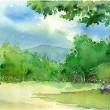 京都御苑のスケッチ