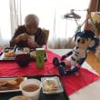 介護施設の夏祭りと昼食会