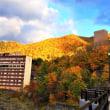 定山渓温泉 そぞろ歩き 紅葉真っ盛り