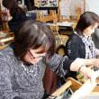 お友達と手織り体験