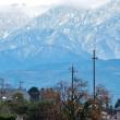 雪が立山連峰の高い峰から低いほうへと降りてくる・・・富山市水橋、舟橋村など