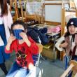 年少さんの手織り体験