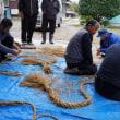 神社のお祭りーしめ縄作り