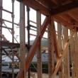 太い構造材を使用します ・・・ 住宅新築