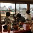 横浜花火大会を屋形船から見学