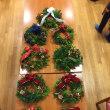 クリスマスリース作り。