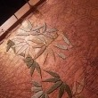 竹を刺繍しております
