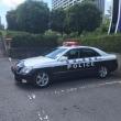 茨城県POLICEパトカーを見た。