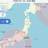 台風21号におけるお知らせ