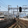 近鉄八田駅を通過する特急「アーバンライナー・ネクスト」 (2017年10月)