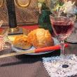 風呂上がりワインとフランスパン