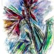 朝日記171115  音楽絵画No.277 メディカル・ウォーク・パロディと今日の絵