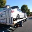レスキュー出動!自社レンタカーの「レクサスLS460」を積載して出発!