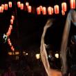 提灯がお祭りの雰囲気を出す・・・