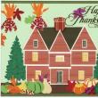 Card ごのみ480~感謝祭のピルグリムス&カラフルな落葉