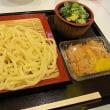 ざるうどん+鳥めし小 鶴丸製麺