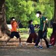 代々木公園、休日の部活進行中!