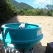肥料の移送と石灰散布