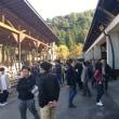 韓国視察団が甲斐東部材原木団地を視察