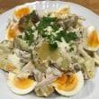 糖質オフメニュー「荒ほぐし鶏のデリ風サラダ」、「菜の花のおひたし オイスター風味」
