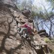 春の岩は油断出来ない@ロッククライミング