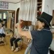 9月11日(月)晴れ時々曇り 利用者7名 ペダル漕ぎ IY様(86歳)誕生会・踊り