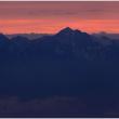 北アルプス連峰の夕暮れ